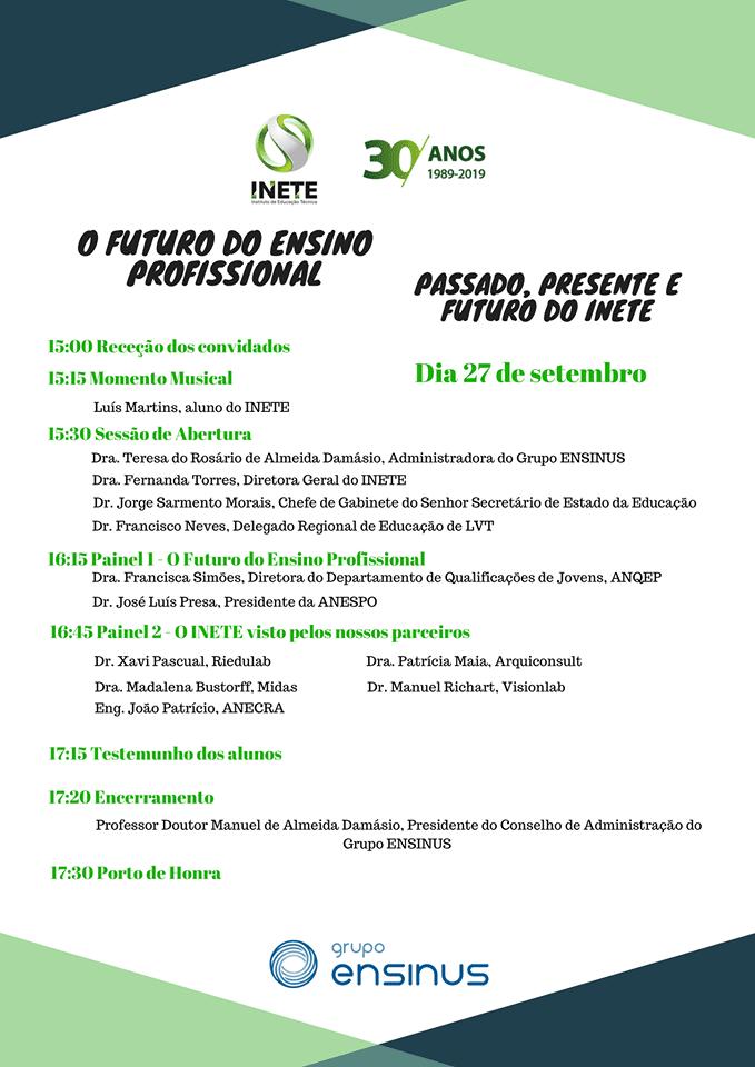 INETE – 30 Anos a Criar Futuros!