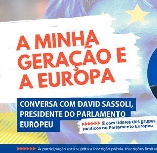 """""""A Minha Geração e a Europa"""" – Presidente Sassoli e líderes políticos do Parlamento Europeu em conversa com jovens portugueses"""